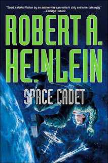 Book Cover Art from Space Cadet by Robert A. Heinlein