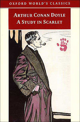 Book Cover Art for A Study in Scarlet by Sir Arthur Conan Doyle