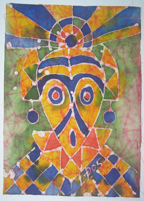 zorica, đuranić, batik, paintings, canvas, art, mask