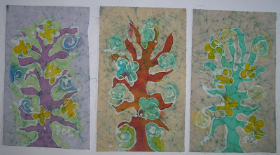 zorica, đuranić, batik, canvas, painting, tree