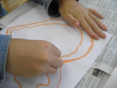 zorica, đuranić, batik, canvas, tutorial, how to, children, beginners, heart
