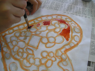 zorica, đuranić, batik, canvas, tutorial, how to, children, beginners