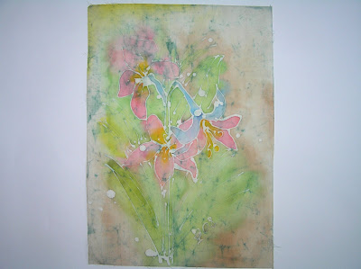 zorica, duranic, đuranić, batik, canvas, paintings, gallery, art, artistic, colorful, pink flowers, floral