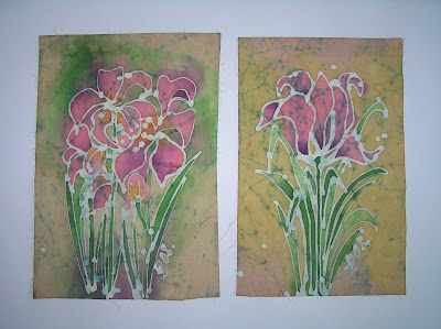 zorica, duranic, đuranić, batik, canvas, paintings, gallery, art, flowers, pink tulips
