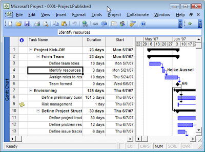 how to change project start date in ms project