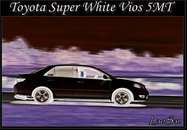 トヨタのスーパーホワイトvios 5速マニュアルトランスミッション
