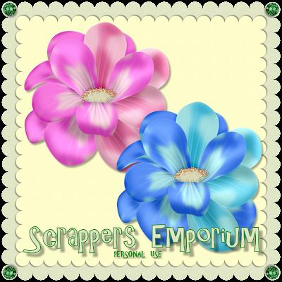 http://scrappersemporium.blogspot.com/2009/07/gorgeous-flowers-freebie.html