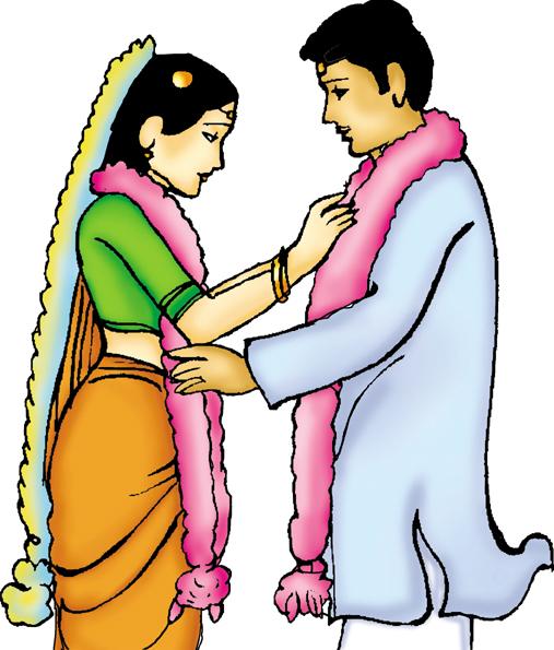 Indian Wedding Clipart Colour