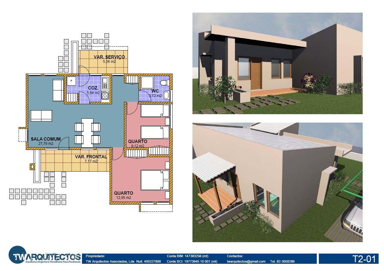 Tw arquitectos casas tipo 2 for Plantas de casas tipo 3