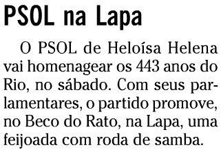 publicado no caderno RIO de O GLOBO de 27 de fevereiro de 2008