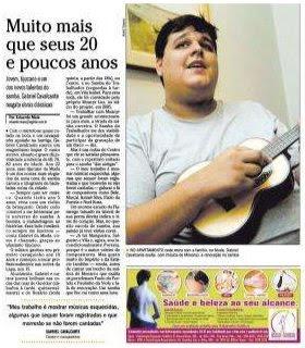 matéria publicada no GLOBO TIJUCA de 10 de abril de 2008