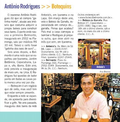 publicado na revista RIOSHOW, de O GLOBO, em 02 de maio de 2008