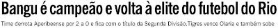 publicado no jornal O GLOBO de 16 de novembro de 2008