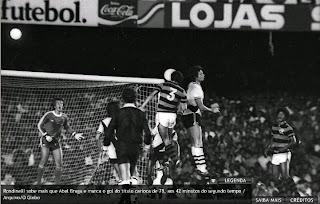 fotografia do instante do gol de Rondinelli em 03 de dezembro de 1978