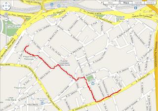 caminhada da rua General Canabarro até a rua Haddock Lobo, Tijuca, Rio de Janeiro