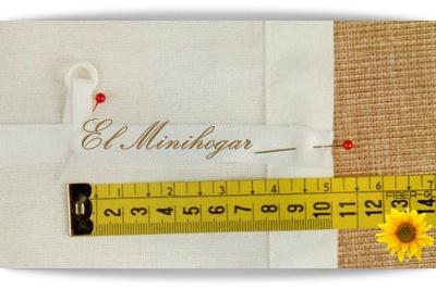 El minihogar - Como hacer un estor sin varillas ...