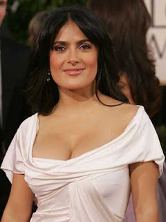 Salma Hayek's boobs, breasts, neck-line