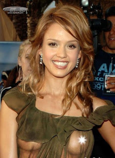 Jessica Alba nipple slip, see-through