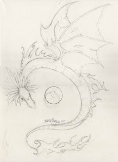 Dragon Tattoo Design by Jennifer Phillip