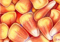 candy corn copyright Jennifer Rose Phillip