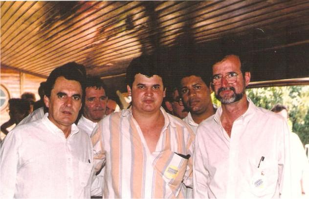Flávio Madeira com Arlindo Porto e Eduardo Azeredo Governador de Minas Gerais
