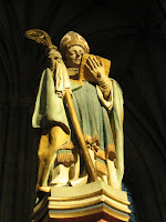 Statue in Canterbury Cathedral in England