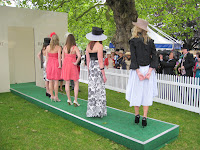 Models on the BBC catwalk at Royal Ascot