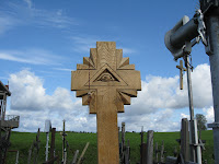 Cross on the Hill of Crosses in Lithuania
