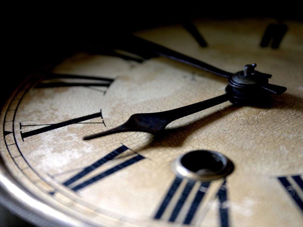 Um minuto para a meia noite.