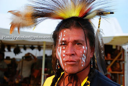 Painted Native American Faces