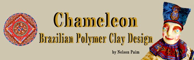 Chameleon  -  Brazilian Polymer Clay  Design