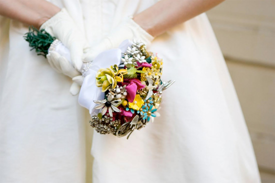 Wedding Inspiration Brooch Bouquet Vintage brooch bouquets courtesy