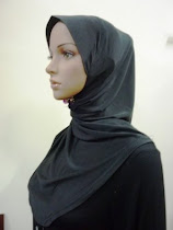 Tudung Scallop Black
