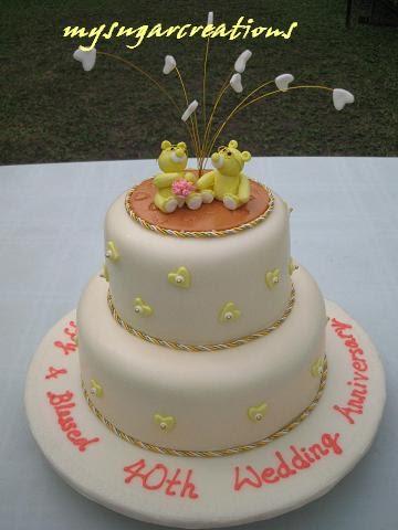 sugar creations 001943746 m 40th wedding anniversary cake photos 2