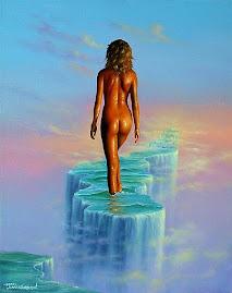 Mujer sobre las aguas