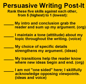 revising a persuasive essay Revising your paper is not skimming a paper while watching tv or listening to a cd revising is focusing on many elements in your draft does everything in your paper.
