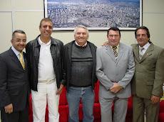 Visita do amigo vereador de São Bernardo Gilberto França(PMDB) ao Presidente e alguns vereadores