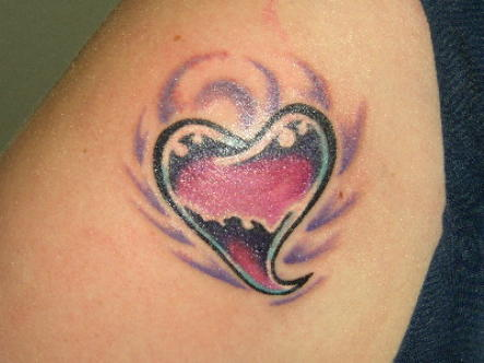 heart tattoo shoulder