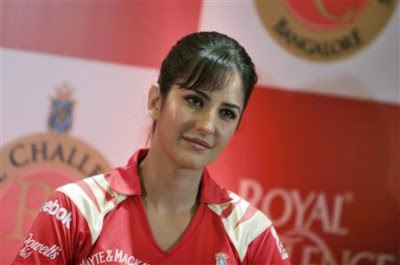 Bollywood actress Katrina Kaif looks on during a promotional event for IPL