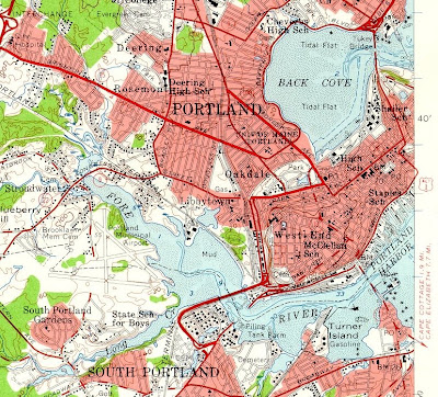 The vigorous north portland maine in historic usgs topographical maps d in 1957 freerunsca Image collections