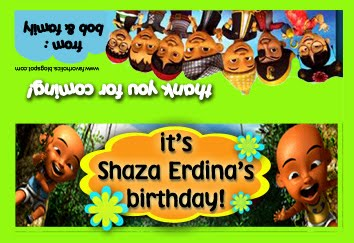Favourholics happy birthday shaza erdina upin ipin stopboris Image collections