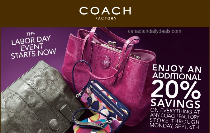 coupon for coach outlet ja1i  Coach Factory Store: 20% off Printable Coupon Valid until Sept 6