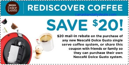 canadian daily deals nescafe dolce gusto gourmet coffee. Black Bedroom Furniture Sets. Home Design Ideas