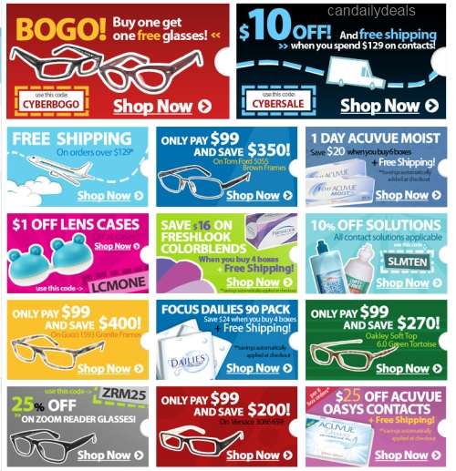 Clearly contact coupons codes