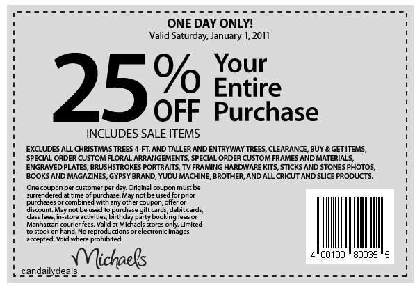 Browse for Michaels coupons valid through December below. Find the latest Michaels coupon codes, online promotional codes, and the overall best coupons posted by our team of experts to save you 50% off at Michaels.
