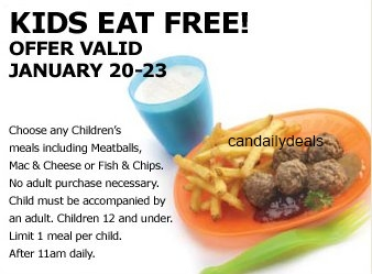 Canadian daily deals ikea kids eat free jan 20 23 for Ikea free kids meal