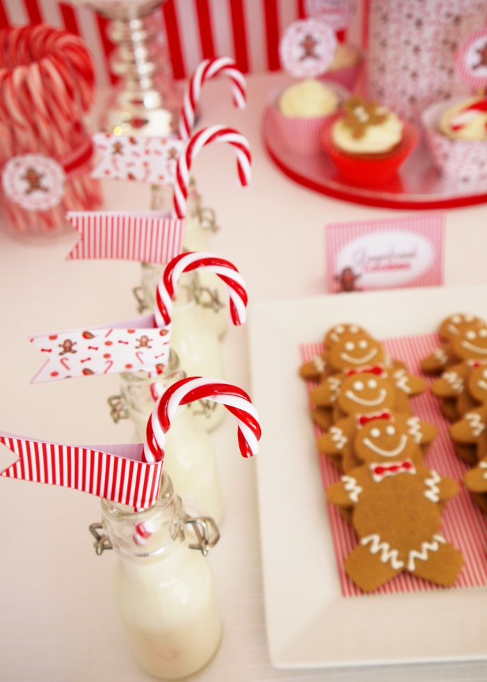 Be different act normal red and white christmas dessert table - Candyland party table decorations ...