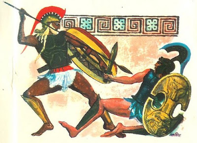 hector vs achilles in the iliad essay Achilles & hector essay this scene can be gleaned from a prior heated exchange of words between achilles and hector in book 22 of the iliad, hector in his last.