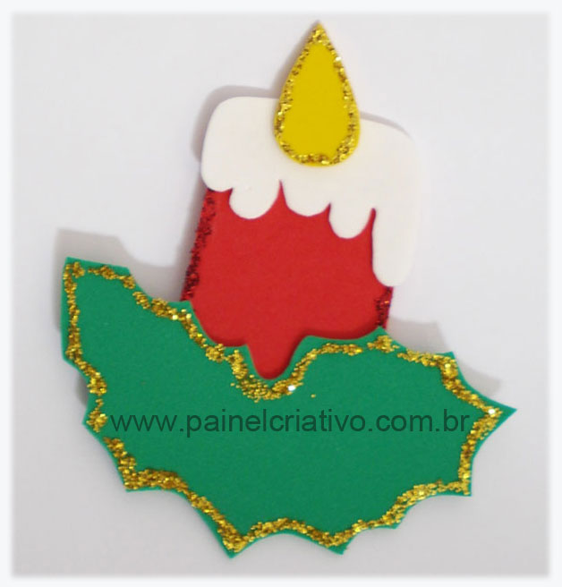 Artesanatos em E V A Molde Enfeites de eva para natal -> Decoração Em Eva Natal