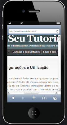 como ver meu site no iphone